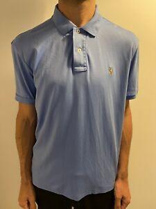 Ralph Lauren Polo Shirt Pima Soft Touch XL Extra Large Blue Short Sleeve