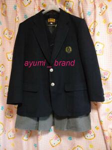 U1 ^_^Japanese SchoolGirl Uniform Winter Blazer Set! Navy! Extra Large. Perfect