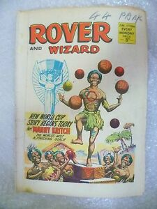 Comic-Rover and Wizard 11 June 1966-New World Cup Story Begins Today MANNY KRITC
