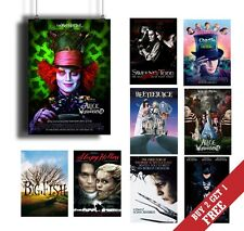 A3 best tim burton movie posters moderne photo brillant imprimé photo vintage ar...