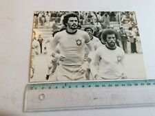 SOCRATES & JUNIOR, BRAZILIAN FOOTBALL PLAYERS, 1980'S PHOTO