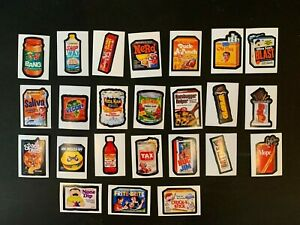 2020 Brand Busters Wacky Packages Series 1 Partial Sticker Set + Wrapper 24/30