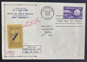 1960 Washington DC USA Swordfish Rocket Mail Flight Airmail Cover