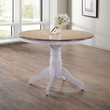 Round Dining Table Kitchen Pedestal Oak Wooden Dinner Furniture Wood Breakfast