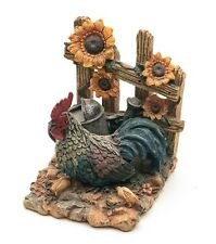 More details for a fascinating farmyard scene inc a cockerel, watering can & sunflowers. ornament