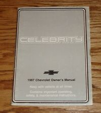 Original 1987 Chevrolet Celebrity Owners Operators Manual 87 Chevy