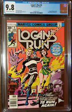 LOGAN'S RUN #6 1ST THANOS SOLO STORY BY MIKE ZECK OFF TO WHITE PAGES CGC 9.8