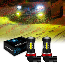 H11 H8 Led Bulbs 3000k Golden Yellow Super Bright Fog Light Drl Light High Power