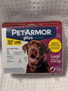 BrandNew Sealed PETARMOR Plus for Large Dogs 45-88 lbs. 6 Applications
