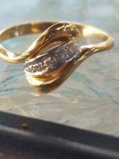 Diamond Round Cut Pieces Ring 10kt Solid Yellow Gold