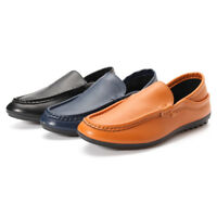 Fashion Men's Casual Shoe Leather Driving Boat Moccasins Slip On Soft Loafers  !