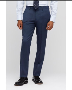 BONOBOS Marzotto Italian Wool Tailored Fit Dress Pants - 38x34 - blue - NWT