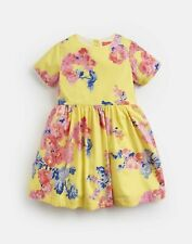 Joules Girls Martha Woven Printed Dress  - YELLOW FLORAL Size 2yr
