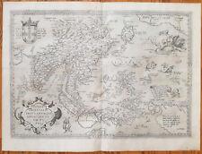 ORTELIUS Original Map Indiae Orientalis South East Asia - 1573