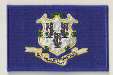 PP-359 - Escudo bordado escudo parche parche bandera CONNECTICUT fusible