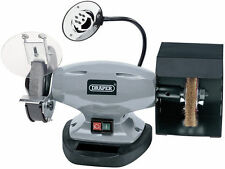 Draper Bench Grinder 150mm Wheels With Wire Wheel & LED Worklight 370w 240v