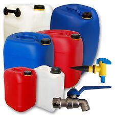 Kanister (natur, blau, wei�Ÿ, rot) mit Zubehör Metallhahn 3 5 10 20 30 60 Liter