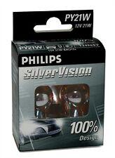 2 AMPOULES PHILIPS SILVER VISION 12V PY21W BAU15S HYUNDAI ATOS (MX)