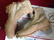 US Army Men's Military Boots sz 12.5W Hot weather type II Desert Tan