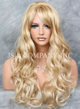 Super Luscious Layered Long Wavy Stunning Golden Blonde MIX WIG WBBW 24-613