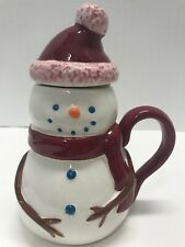 "Starbucks Snowman Lidded Cup/Mug Holiday 2006 6""""tall"