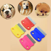 stainless steel pet dog cat toothed flea removal cleaning brush grooming comb BB