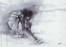 "African American Black Art Print ""THE BALLERINA"" by Wak"