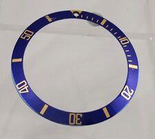 Rolex Submariner 18k Gold 16613 16803 16618 Watch Bezel Blue Insert  Part