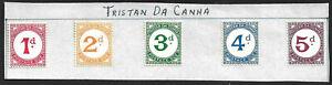 Tristan Da Cunha 1957 postage dues set of 5 mint