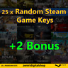 25 x Random Steam Game Keys + 2 Bonus ✅REGION FREE