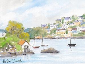 Dartmouth from Kingswear, Devon,  Watercolour & Ink Original