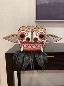White Barong Mask Bali Indonesia Authentic Rangda Carving