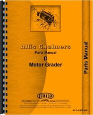 Allis Chalmers D Gas Motor Grader Parts Manual AC-P-D MTR GDR