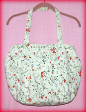 RALPH LAUREN POLO SPORT WOMEN'S VINTAGE FLORAL IVORY CANVAS BAG HOBO PURSE CUTE!