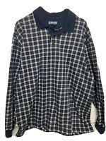 Vintage STRUCTURE XL Long Sleeve Casual Plaid Men's Shirt 90s Extra Large VTG