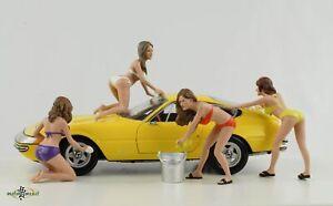 Figur Bikini Car Wash Set 4 Figuren 1:24 American Diorama