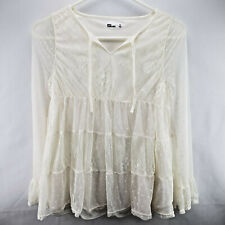 Epic Threads Big Girls Lace Peasant Top Holiday Ivory Large