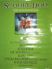 SCOOBY-DOO Soundtrack promotional poster, 2002, 18x24, VG+