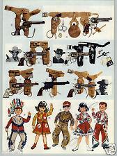 1961 PAPER AD 3 PG Toy Cowboy Guns Paladin Matt Dillon Mattel Buffalo Hunter