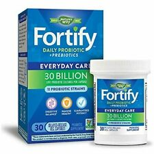 NATURE'S WAY FORTIFY DAILY PROBIOTIC + PREBIOTICS - 30 BILLION - 30 CAPSULES