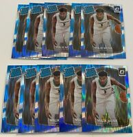 2017-18 Donruss Optic #190 MALIK MONK RC Shock Prizm CHARLOTTE HORNETS Lot (10)