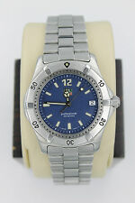 Tag Heuer 2000 Classic Professional WK1113 Watch Mens BLUE Mint Crystal 8.5""