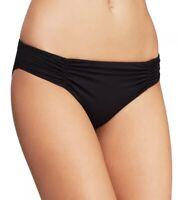 L*Space 180774 Womens Monique Hipster Bikini Bottom Swimwear Black Size Medium