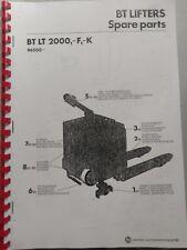 Ersatzteilbuch BT Elektro Deichselstapler LT2000 -F, -K Ser.  96000