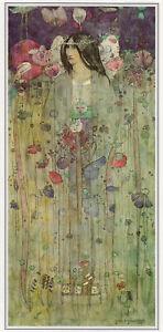 In Fairyland Charles Rennie Mackintosh print in 10 x 12 inch mount SUPERB