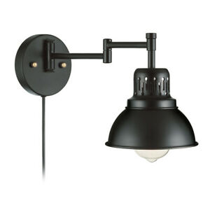 Retro Wall Lamp Adjustable Swing Arm Sconce Wall Mounted Light Fixture Bedside