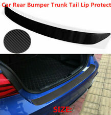 3D Carbon Fiber Auto Rear Bumper Trunk Tail Lips Protection Car Decal Sticker 1X