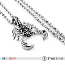Men's Vintage 3D Gothic Scorpion Stainless Steel Pendant Necklace Cool Punk P13