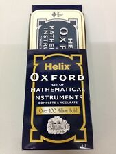 Helix Oxford Maths Set Compass Protractor Ruler Eraser Sharpener School