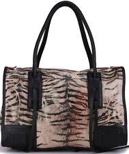 Violette Bonnet -- Trendy Zebra Genuine Leather Shoulder Handbag